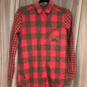 American Eagle Hot Pink/Grey Flannel